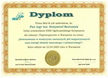 Dyplom Krzysztof Bartosiak