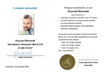 Certyfikat Krzysztof Bartosiak